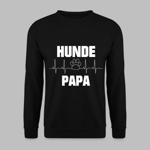 Hundepapa EKG Herzlinie Pfote - Männer Pullover