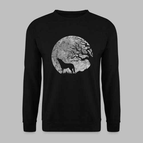 Vollmond heulender Wolf mystisch Werwolf Fantasy - Männer Pullover
