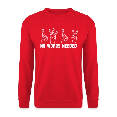 ACAB 1312 FINGER NO WORDS NEEDED OUTLAW URBAN - Unisex Pullover