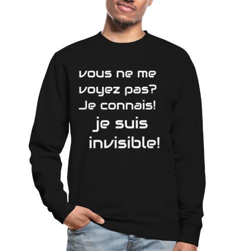 Invisibile #invisibile - Felpa unisex