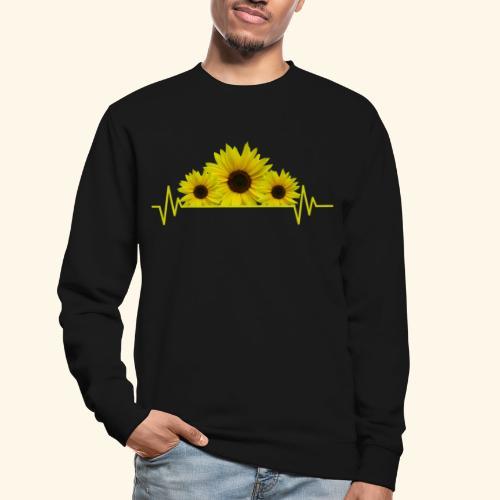 Sonnenblumen Herzschlag Sonnenblume Blumen Blüten - Unisex Pullover