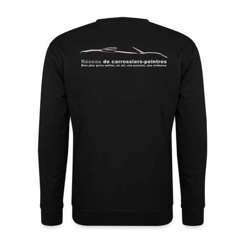 gros logo gris - Sweat-shirt Homme