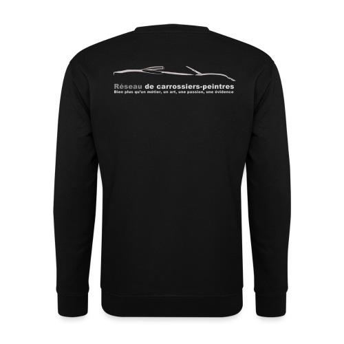 gros logo gris - Sweat-shirt Unisexe