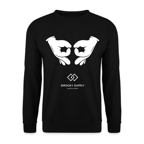 Gangsigns white png - Unisex Pullover