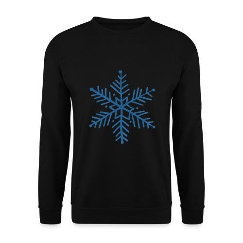 flocon de neige bleu - Sweat-shirt Unisexe