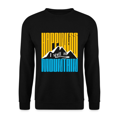 Happiness I spell it Mountain Outdoor Wandern Berg - Unisex Pullover