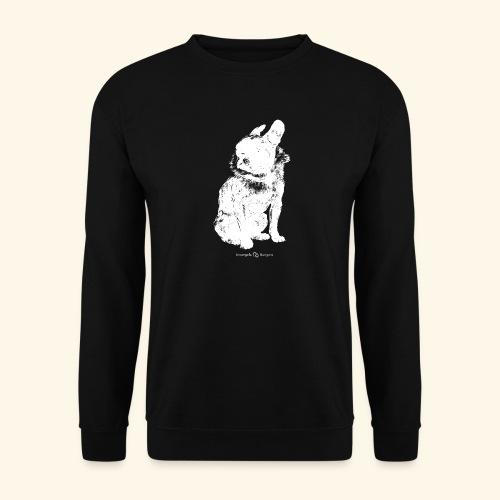 white vintage French Bulldog - Sweat-shirt Unisexe