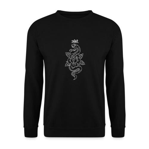 serpent blanc old school - Sweat-shirt Unisexe