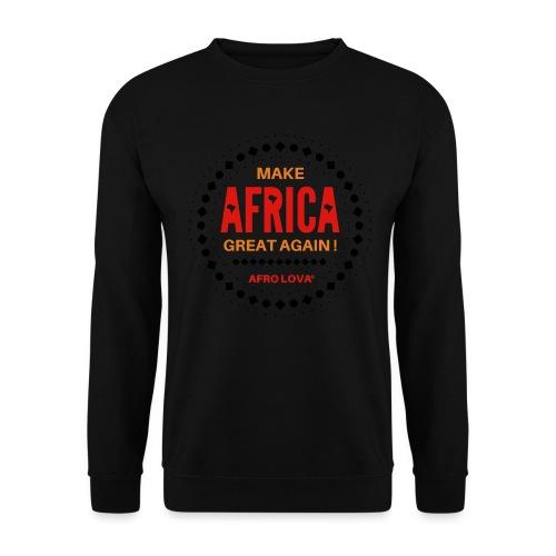 Make Africa Great Again Marron - Sweat-shirt Unisexe
