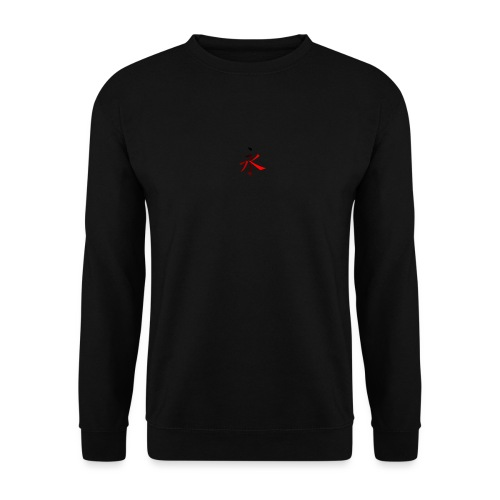 Kinesisk Bogstav Rød/Sort på Brystkassen - Unisex sweater