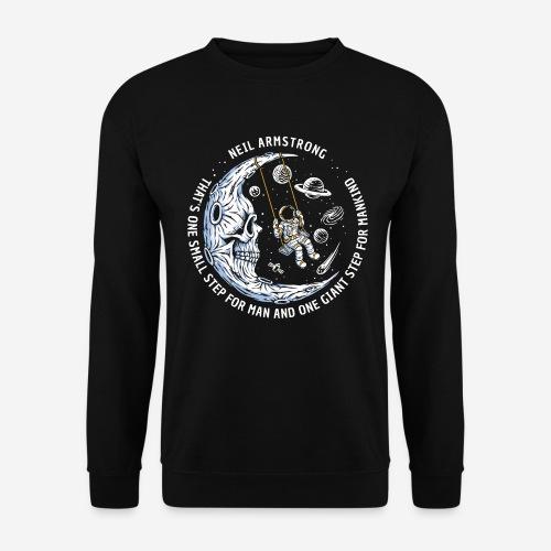 moon astronaut stars space - Unisex Pullover