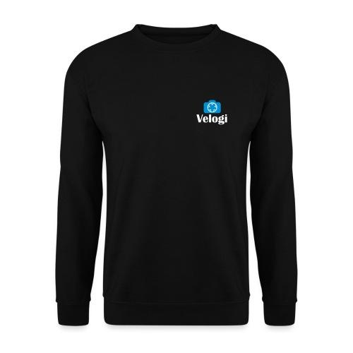 Velogi logo cyan white - Unisex svetaripaita