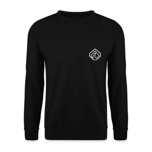 logo en blanc basique - Sweat-shirt Unisexe