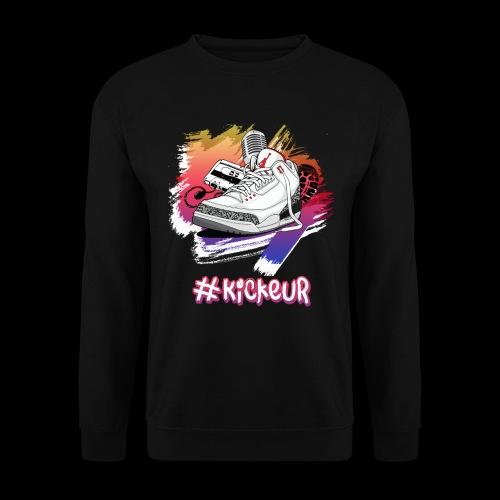 #Kickeur Blanc - Sweat-shirt Unisexe