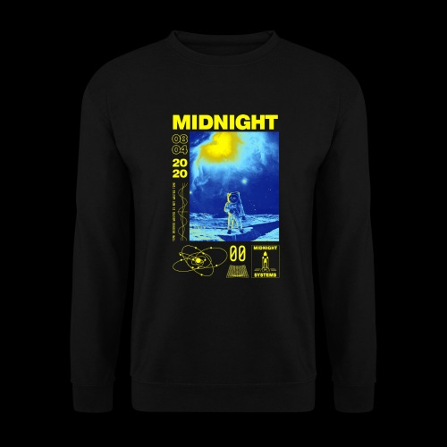 Midnight Astronaut Electric Yellow - Unisex Sweatshirt