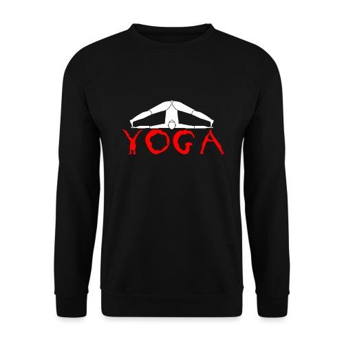 yoga yogi sport bianco namaste amore pace hippie - Felpa unisex