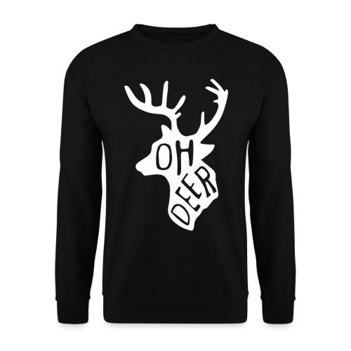 ohdeerwhitepng png - Unisex sweater