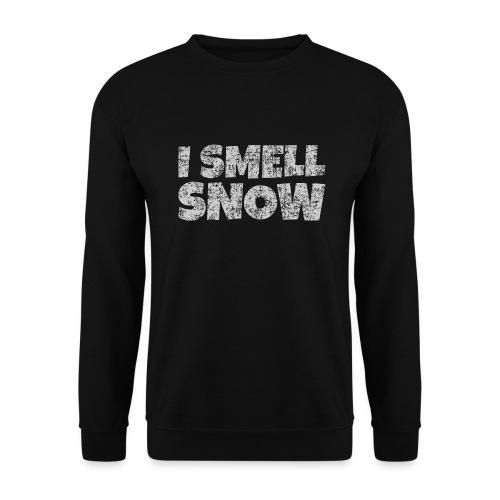 I Smell Snow (Grau) Schnee, Winter, Wintersport - Unisex Pullover