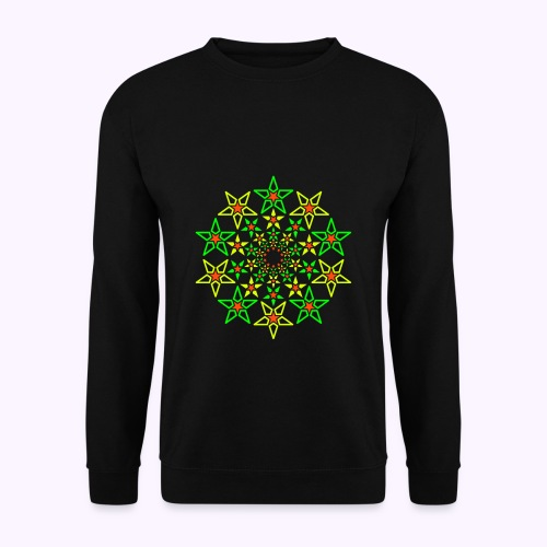 Fractal Star 3 color neon - Unisex sweater