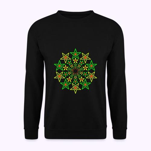 Fractal Star 3 color neon - Unisex Sweatshirt
