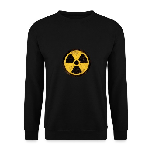 Vintage Warning Nuclear Radioactive Sign - Unisex sweater