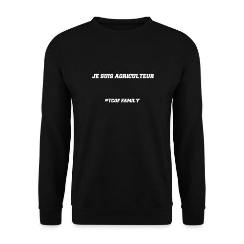 Articles Je suis agriculteur écritures blanches - Sweat-shirt Unisexe