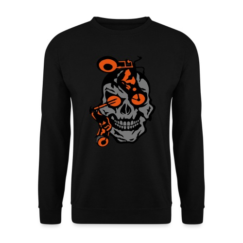 tete mort moto motrocycle oeil skull - Sweat-shirt Unisexe