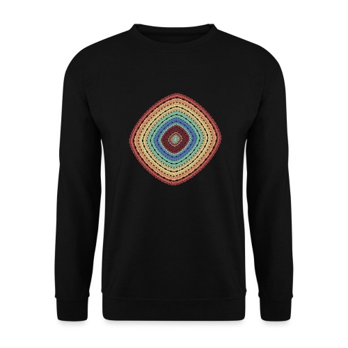 Lucky square in summery colors - Unisex Sweatshirt