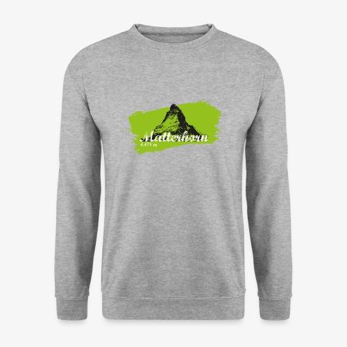 Matterhorn - Cervino en verde - Unisex Sweatshirt