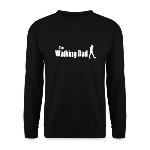 the walking dad white text on black - Unisex Sweatshirt