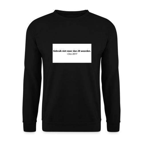 Gebruik niet meer dan 20 woorden - Unisex sweater