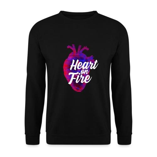 Heart on fire - Sweat-shirt Unisexe