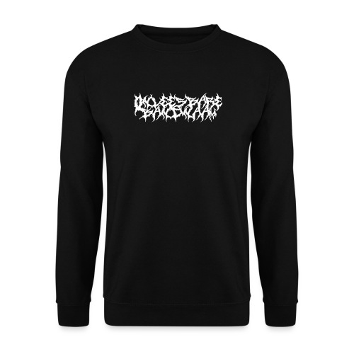 Onleesbare bandnaam - Unisex sweater
