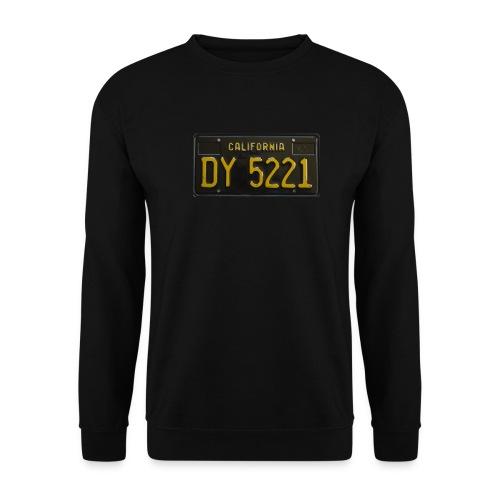 CALIFORNIA BLACK LICENCE PLATE - Unisex Sweatshirt