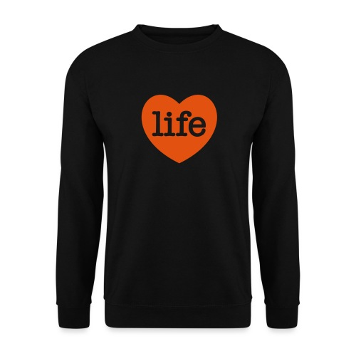 LOVE LIFE heart - Unisex Sweatshirt