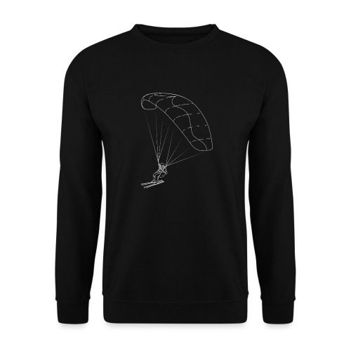 Speedriding Speedflying fine line sketch - Unisex Pullover
