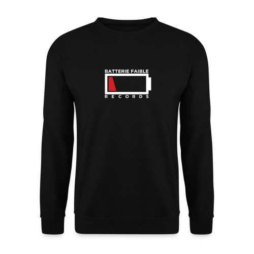 Batterie Faible Basic White - Sweat-shirt Unisexe