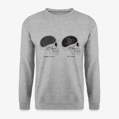Human programmer brain | Geeky | Web jokes - Men's Sweatshirt
