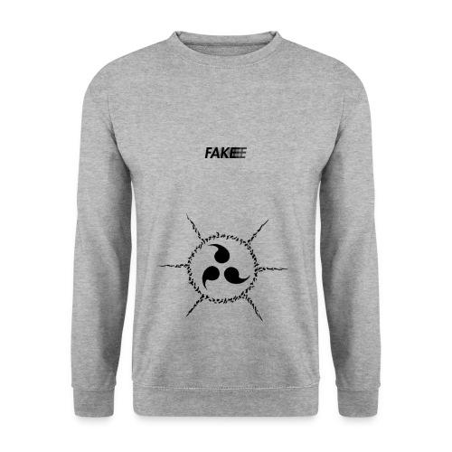 fake logo trasparent tribal - Felpa da uomo