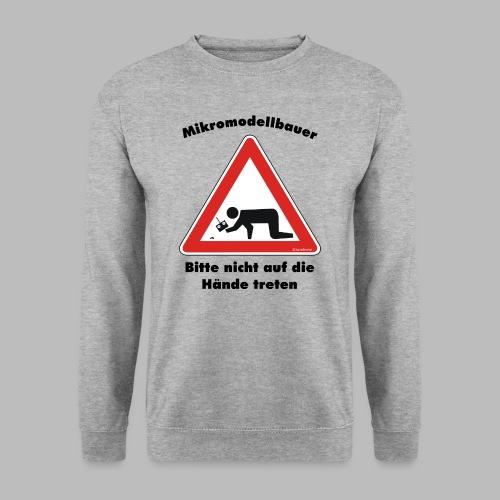 Mikromodell Warnschild Hände - Männer Pullover