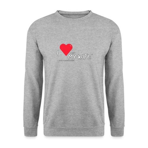 Love my wife heart - Mannen sweater