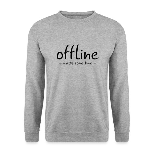 Waste some time offline – Typo – Farbe wählbar - Männer Pullover