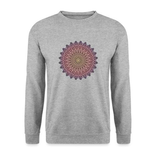 Mandala Sonnenuntergang - Männer Pullover