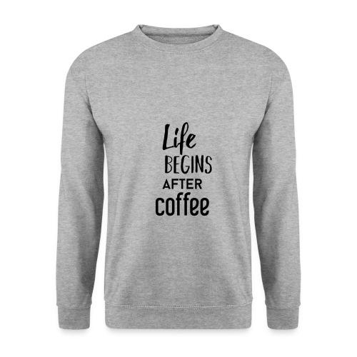 Life begins after Coffee - Männer Pullover