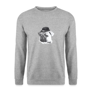 pug with bowler - Herre sweater
