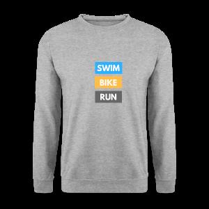 Triathlon Apparel: Swim Bike Run - Men's Sweatshirt