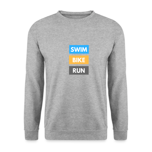 Triathlon Apparel: Swim Bike Run - Men's Sweatshirt