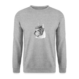 French Bulldog w/beret - Herre sweater