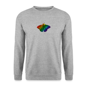 Regenboog vlinder - Freedom, Love en Happiness - Mannen sweater