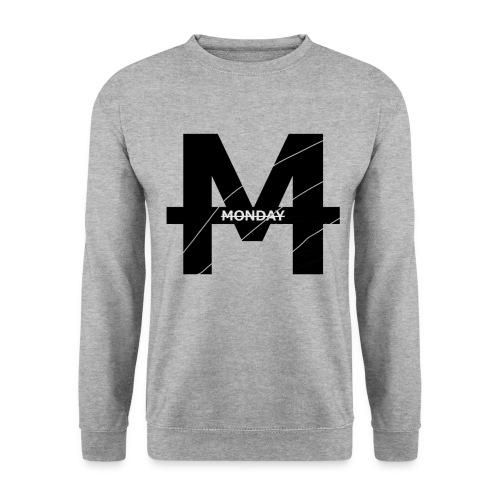 Monday Logo M transparent GROß durchgestrichen png - Männer Pullover